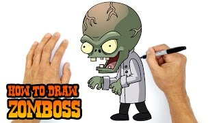 getlinkyoutube.com-How to Draw Zomboss (PvZ)- Kids Art Lesson