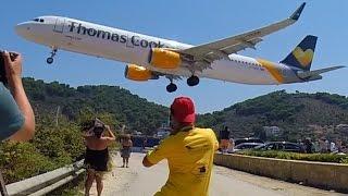 getlinkyoutube.com-Spotters Spotting Skiathos - Landings on rwy 02 - GoPro Low Landings - JSI Airport