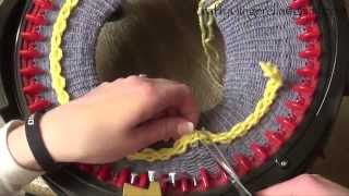 getlinkyoutube.com-How To Make a Brimmed Hat on addi Express King Size Knitting Machine