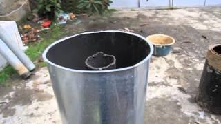 getlinkyoutube.com-Portable Rocket Stove, small mass heater