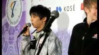 getlinkyoutube.com-四大陸2013スモールメダルセレモニー【男子FS】羽入選手にキツーイ質問