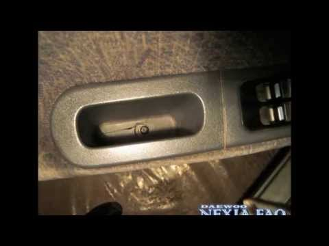 Как снять обшивку двери на Daewoo Nexia