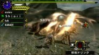 getlinkyoutube.com-【MHX】訓練されたストライカー太刀部隊 VS ラージャン【あけおめ】