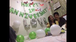 First Anniversary Surprise for my LDR boyfriend 😘☺️
