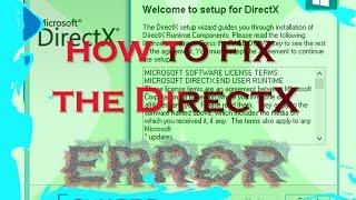 getlinkyoutube.com-How to fix DirectX error when you run a game [windows 7 / 8 / 8.1 / 10]