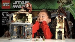 getlinkyoutube.com-LEGO RANCOR PIT Lego Star Wars Set 75005 - Time-lapse Build, Unboxing & Review in 1080p HD