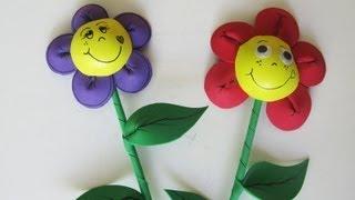 getlinkyoutube.com-Adorno para fiestas - Flor de goma eva - Manualidades para todos
