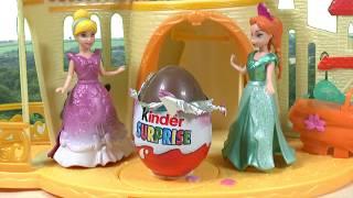 getlinkyoutube.com-Mermaid Princess Ariel Frozen Anna Kinder Surprise Eggs My Little Pony Киндер Сюрприз Cinderella