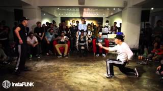 InstaFUNK 2015 Popping & Locking Battle - Lil'Yin vs Lil' 3 - Popping Final