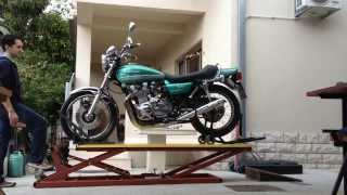 getlinkyoutube.com-Motorcycle Lift Table KawasakiTripHD