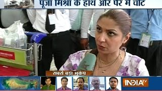 getlinkyoutube.com-Nepal Earthquake: Actress Pooja Mishra Gets Injured and Shares Her Horrific Experience - India TV