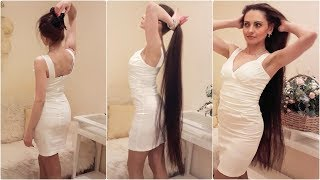 Knee Length Hair Beauty in Living Room (Preview)
