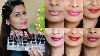 getlinkyoutube.com-Wet n Wild Matte lipsticks Review & Swatches on Indian olive Tan Skin tone