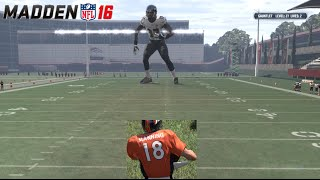 LEVEL 40 BOSS CHALLENGE HAIL MARY RAGE! Peyton Manning RUNS FOR TD! Madden 16 Gauntlet