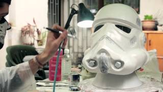 getlinkyoutube.com-Making a Stormtrooper Helmet - Timelapse