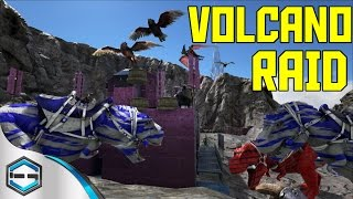 getlinkyoutube.com-Ark Survival Evolved Volcano Raid So Much Death Part 1 Ep. 28