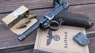 getlinkyoutube.com-Hidden treasures of World War II - Metal Detecting Luger P08 Parabellum magazine and ppsh41 bolt