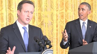 President Obama and PM Cameron Conference [Full conference]