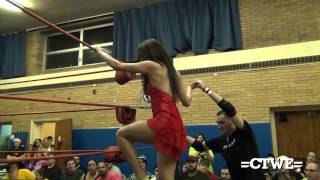 getlinkyoutube.com-CTWE Season's Beatings 2012: J-Busta w/ Stevie Stamos & Nikki Bella VS. Anthony Greene w/ Brie Bella