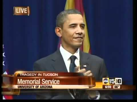 President Barack H. Obama : Tucson memorial Jan 12, 2011