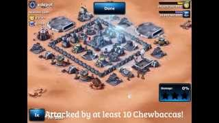 getlinkyoutube.com-Star Wars: Commander - Strongest Lvl 4 HQ Base Design (Attacked by 8 Wookies)