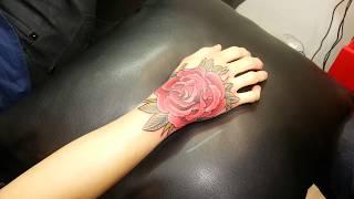 getlinkyoutube.com-타투스킬 : TATTOOSKILL : ROSE TATTOO (back of one's hand)