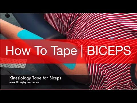 How to Tape a Biceps Tear | STRAPPING TAPE