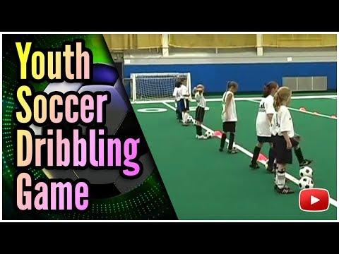 Fun Drills for Youth Soccer - Dribbling the Ball Game - Coach Joe Luxbacher