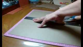 "getlinkyoutube.com-RE-POST!! Simple 6"" by 6"" mini album Start to Finish -- Scrapbooking mini album"
