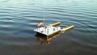 getlinkyoutube.com-RC Rescue and Recovery Barge with on board wireless video camera.
