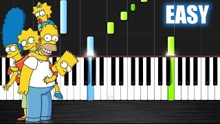 getlinkyoutube.com-The Simpsons Theme - EASY Piano Tutorial by PlutaX - Synthesia
