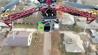 DRONE (in flight) with 2-axis #1 = APM 2.6+F450+GPS+3dr+2212(1000kv)+RadioLink AT9