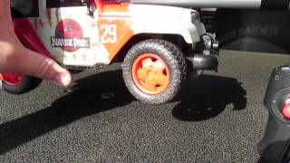 getlinkyoutube.com-JADA TOYS JURASSIC PARK JURASSIC WORLD RC JEEP WRANGLER