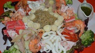 سلطة بالسمك  راقية وجد لذيذة Salade du pêcheur