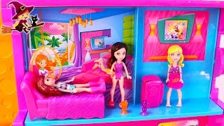 getlinkyoutube.com-Gran Hotel de Polly Pocket Aventuras de Polly y Kriestie