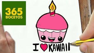 getlinkyoutube.com-COMO DIBUJAR CUPCAKE KAWAII PASO A PASO - Dibujos kawaii faciles - How to draw a Cupcake