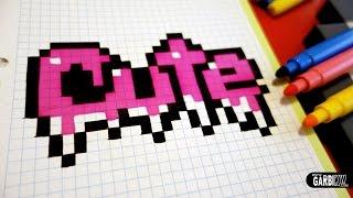 getlinkyoutube.com-Handmade Pixel Art - How To Draw Cute Graffiti #pixelart