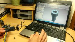 getlinkyoutube.com-Digital Caliper Round-Up (:4:) Data Cable Input With the iGaging & Mitutoyo in CAD/CAM NX & Excel