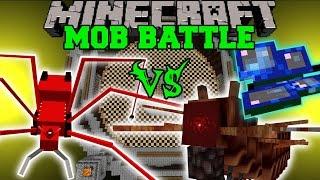 getlinkyoutube.com-RED ANT ROBOT VS MOTHRA & CATERKILLER - Minecraft Mob Battles - OreSpawn Mod