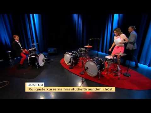 Tilde och Peter lär sig spela trummor till Michael Jackson - Nyhetsmorgon (TV4)