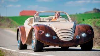 getlinkyoutube.com-Car-pentry: Man Spends $20,000 Building Wooden Concept Car