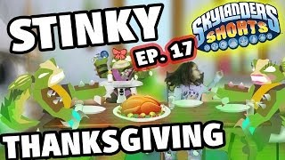 getlinkyoutube.com-Skylanders Shorts: Episode 17 - A Stinky Thanksgiving! (Dinner w/ Stink Bomb - Swap Force Animation)