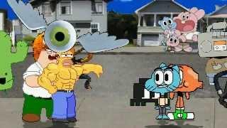 AN Mugen Request #209: Homer Simpson & Peter Griffin VS Gumball & Darwin
