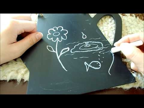 ASMR Whispering - Relaxing Chalk & Chalkboard Drawing/Writing