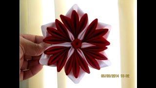 getlinkyoutube.com-Flores pétalos tulipán en cintas para el cabello