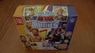 getlinkyoutube.com-YouTube PREMIERE ☆ UNBOXING BOOSTER BOX ☆ topps SLAM ATTAX WWE RIVALS trading card game ☆ OPENING