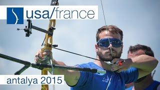 getlinkyoutube.com-USA v France – Recurve Men's Team Bronze Final | Antalya 2015