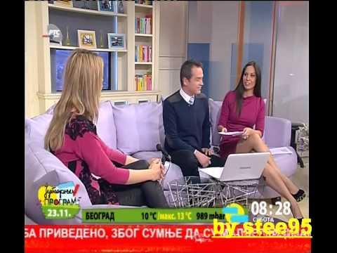 krasivaja Irina Ivic voditeljka jutarnjeg na rts u 23 novembar 2013