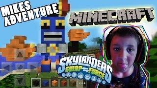 getlinkyoutube.com-Mikes Minecraft Adventure + Skylanders Countdown Speed Build w/ Face Cam (5 Years Old)