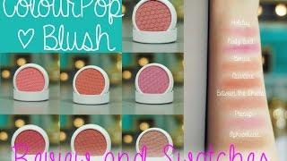 getlinkyoutube.com-ColourPop Blush Swatches & Review
